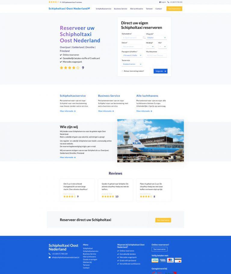Taxi website laten maken