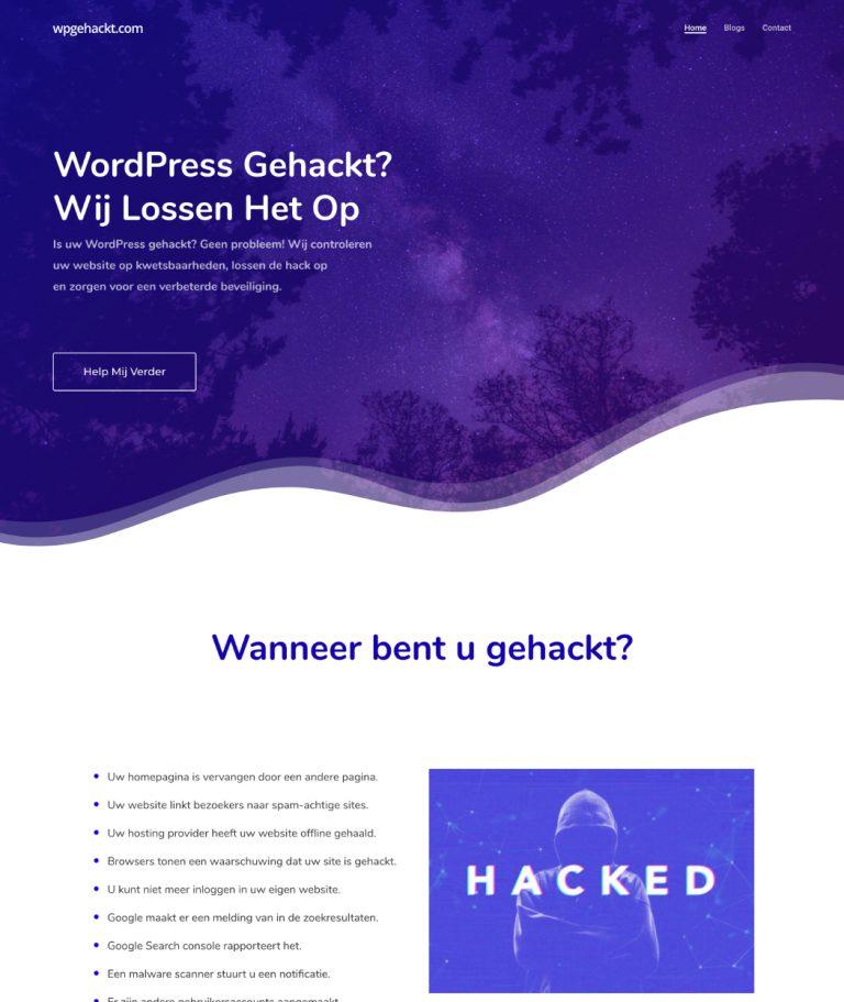 WP gehackt hack oplossen