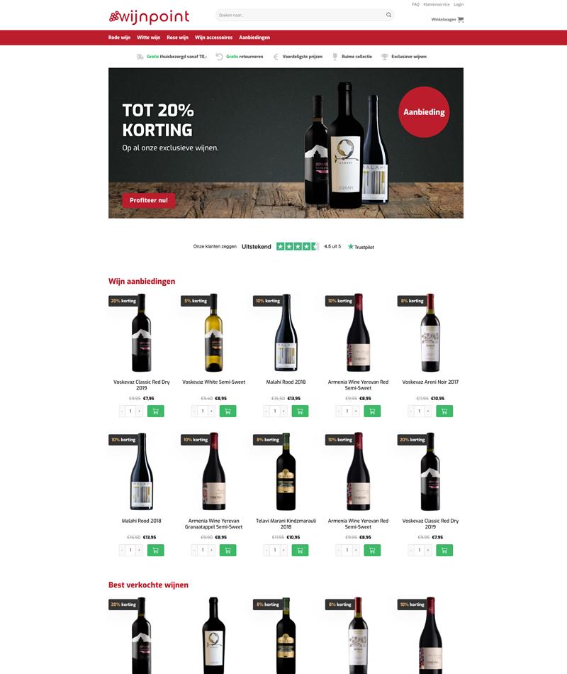 Wijn webshop laten maken